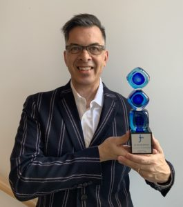 Walter Wittich poses with his 2020 JT Award
